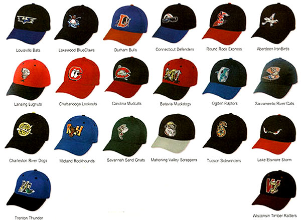 minor league baseball hats