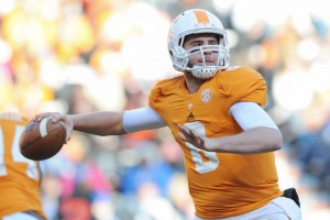 Tennessee Volunteers quarterback Tyler Bray has selected Tom Brady's agent as his representative (Credit: Randy Sartin-US PRESSWIRE)