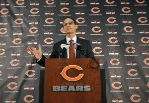 Chicago Bears new head coach Marc Trestman during a press conference at Halas Hall. Credit: David Banks-USA TODAY Sports