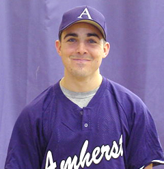 A young Josh Santry when he was a baseball player at Amherst.