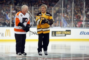 Boston Bruins former player Bobby Orr before the 2010 Winter Classic at Fenway Park. Mandatory Credit: Greg M. Cooper-USA TODAY Sports