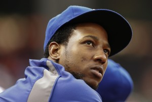 Texas Rangers second baseman Jurickson Profar (13) looks on during the game against the Colorado Rockies at Globe Life Park in Arlington. Mandatory Credit: Kevin Jairaj-USA TODAY Sports