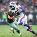 Buffalo Bills wide receiver Mike Williams (19) runs with the ball in a game against the Houston Texans at NRG Stadium. Mandatory Credit: Troy Taormina-USA TODAY Sports