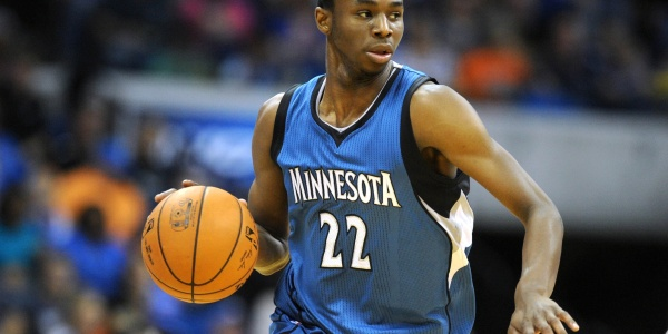 Minnesota Timberwolves guard Andrew Wiggins (22) handles the ball against the Oklahoma City Thunder during the fourth quarter at BOK Center. Mandatory Credit: Mark D. Smith-USA TODAY Sports