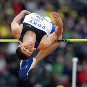 Olympic hopeful Curtis Beach competes in the high jump while attending Duke University. Photo courtesy of Beach's Twitter page. You can follow Curtis @Curtis_Beach.