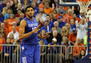 Karl-Anthony Towns is projected to be the #1 pick in the 2015 NBA Draft (Credit: Kim Klement-USA TODAY Sports)