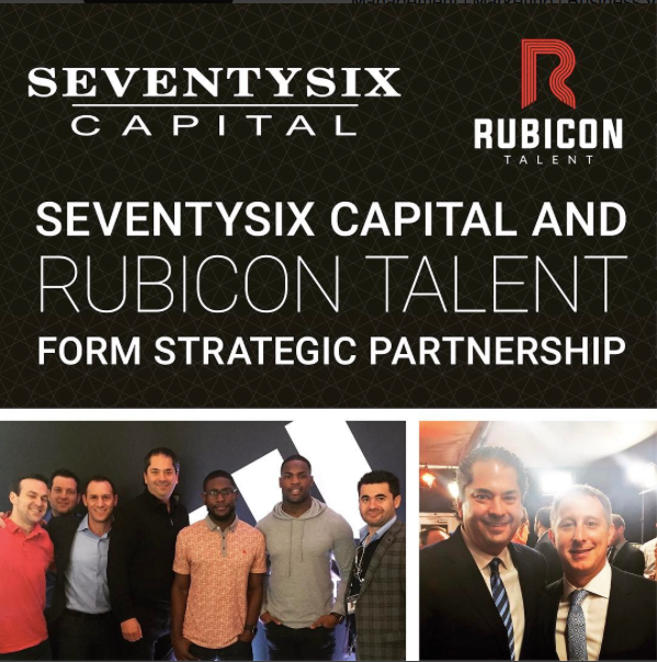 Newly Launched Sports Agency Rubicon Talent Announces Partnership With SeventySix Capital