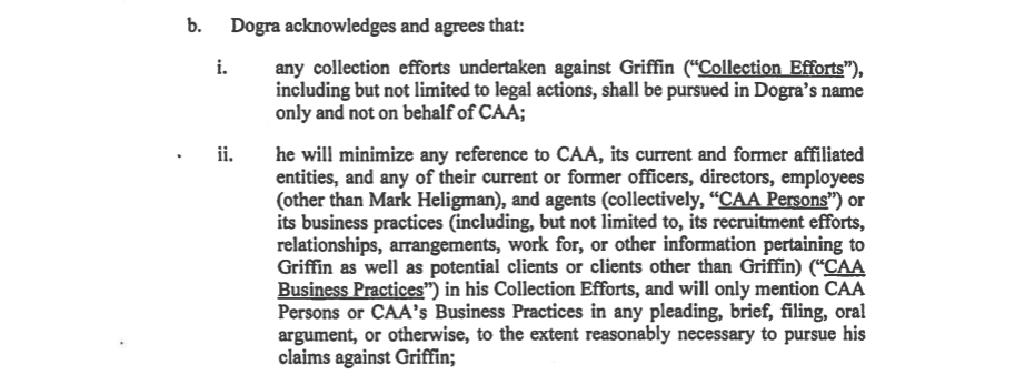 Dogra v. Griffin CAA assignment